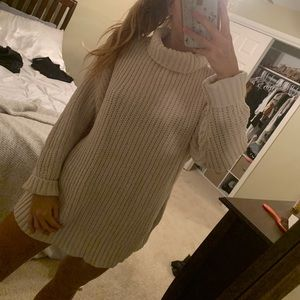 Aerie mock cable neck sweater
